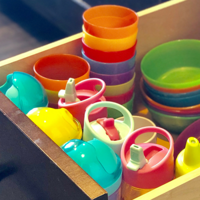 Kid-Friendly Way to Organize Kid Dishes
