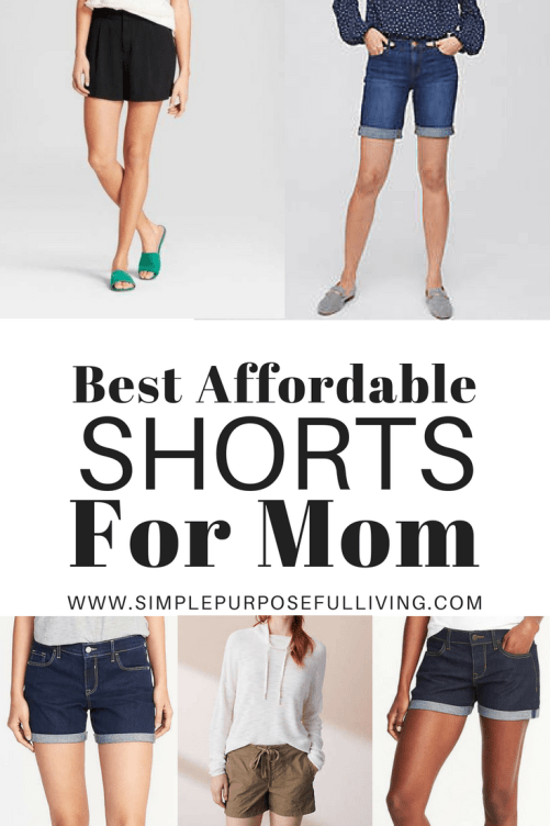 mom shorts collage for budget-friendly short options