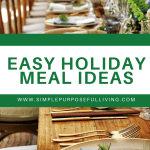 easy holiday meal ideas Pinterest pin