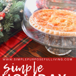 simple holiday meal ideas Pinterest pin