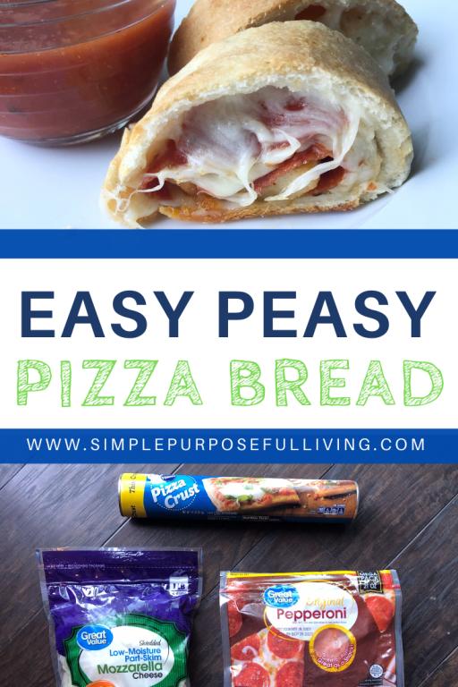 easy peasy pizza bread