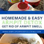 homemade easy armpit detox mask