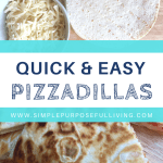 quick and easy pizzadillas for kids