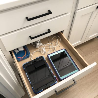 DIY Electronics Charging Station Drawer