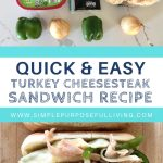 quick and easy turkey cheese steak pin