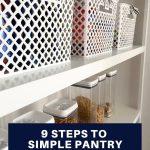 9 Steps to pantry organization