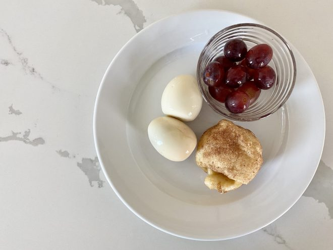 leftover hard boiled eggs ideas, breakfast