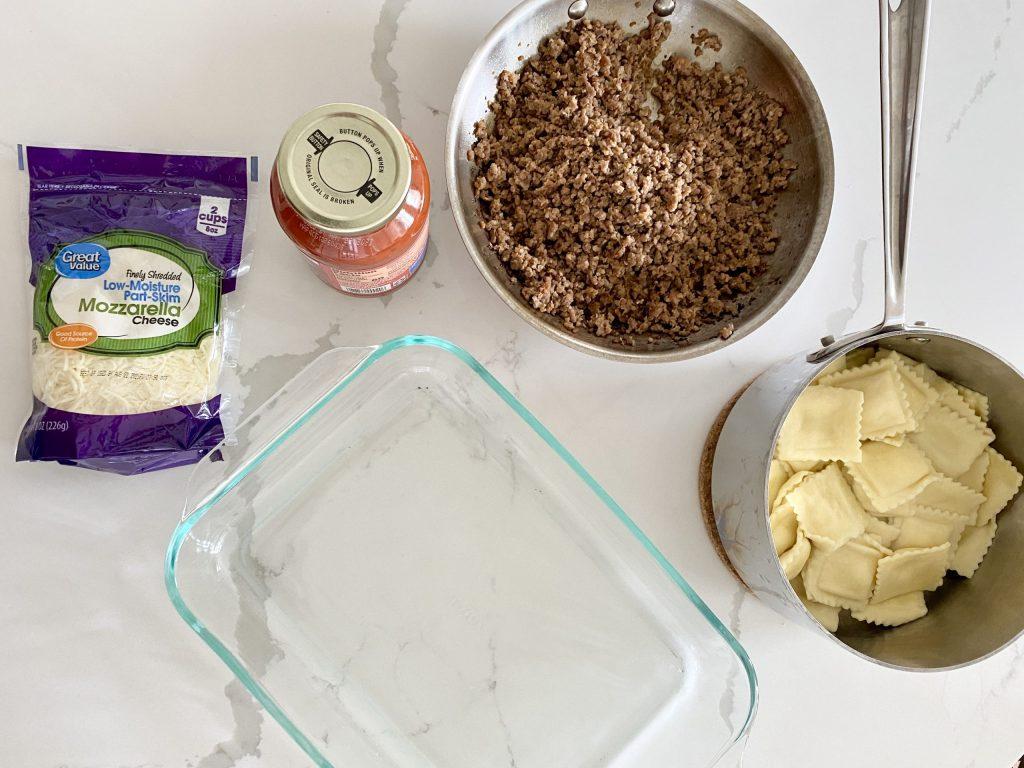 assemble easy ravioli lasagna costco copycat