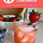 3 ingredient lemonade with strawberries and blueberries