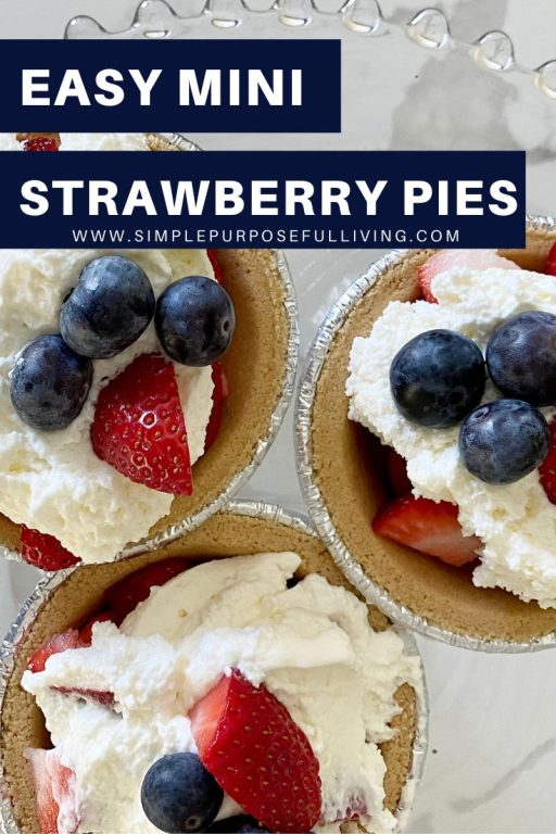easy mini strawberry pies with graham cracker crust