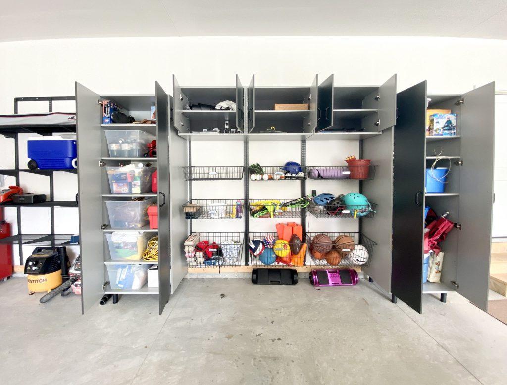 garage cabinets organization system