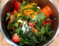 Add all ingredients from set 1 into medium size pan, add turmeric, salt