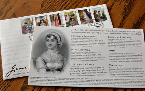 Jane Austen Stamps & Bio Card