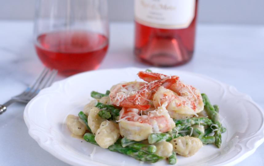 Shrimp Gnocchi with Rose
