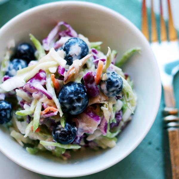 Fresh Blueberry Coleslaw