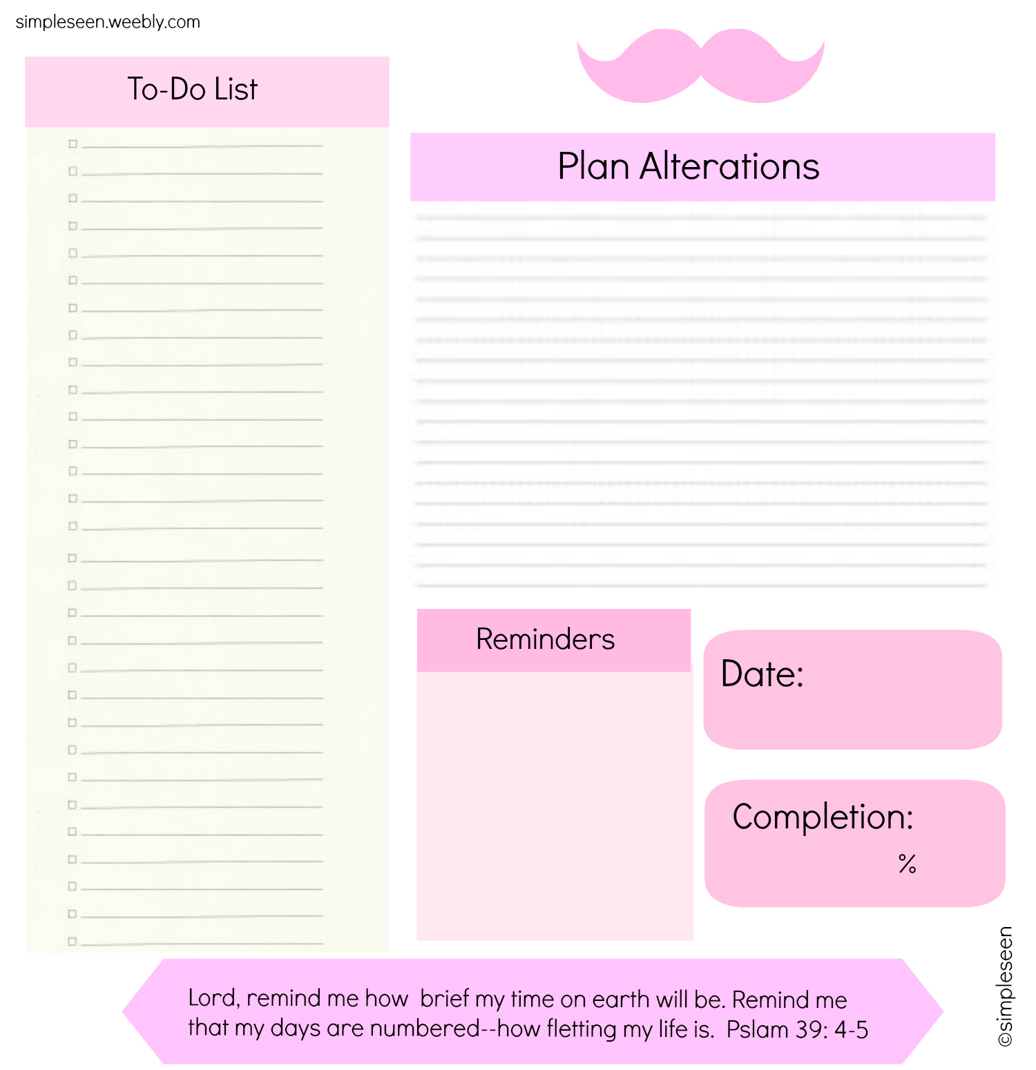 Printable Daily Schedule To Do List Simpleseen
