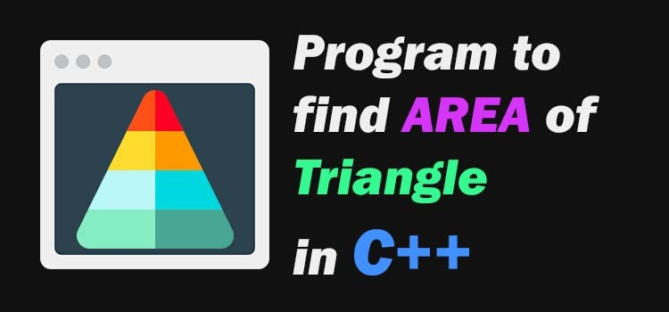 c++ program to find area of triangle