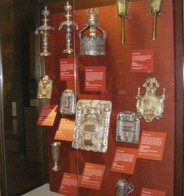TORAH SHIELDS and KIDDISH CUPS