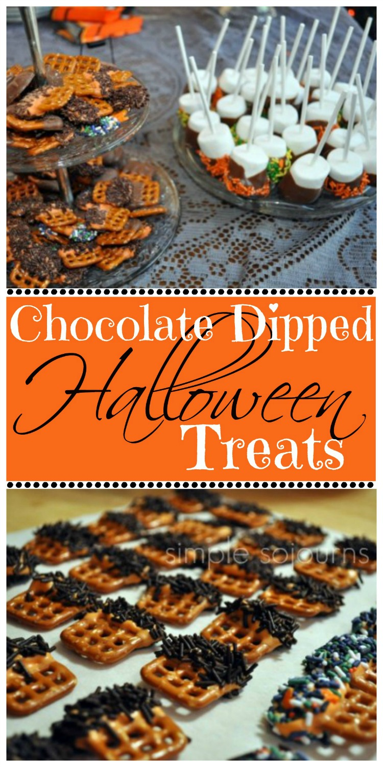 Easy Peasy Chocolate Dipped Halloween Treats - Simple Sojourns