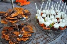 Chocolate Dipped Pretzels and Marshmallows