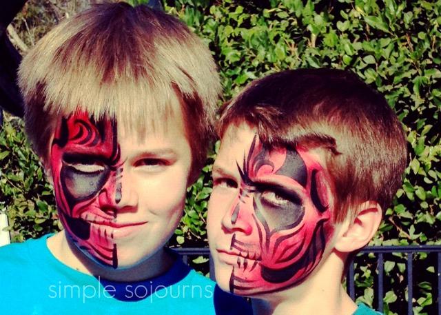 Disney Face Painting - Tribal