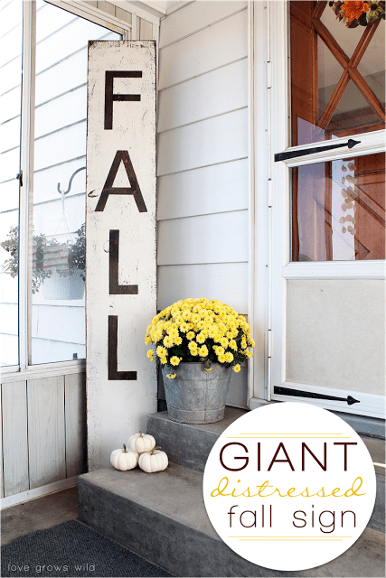 Giant-Distressed-Fall-Sign-Love Grows Wild