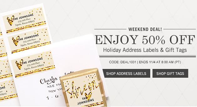 tiny prints coupon 50 off address labels and gift tags simple