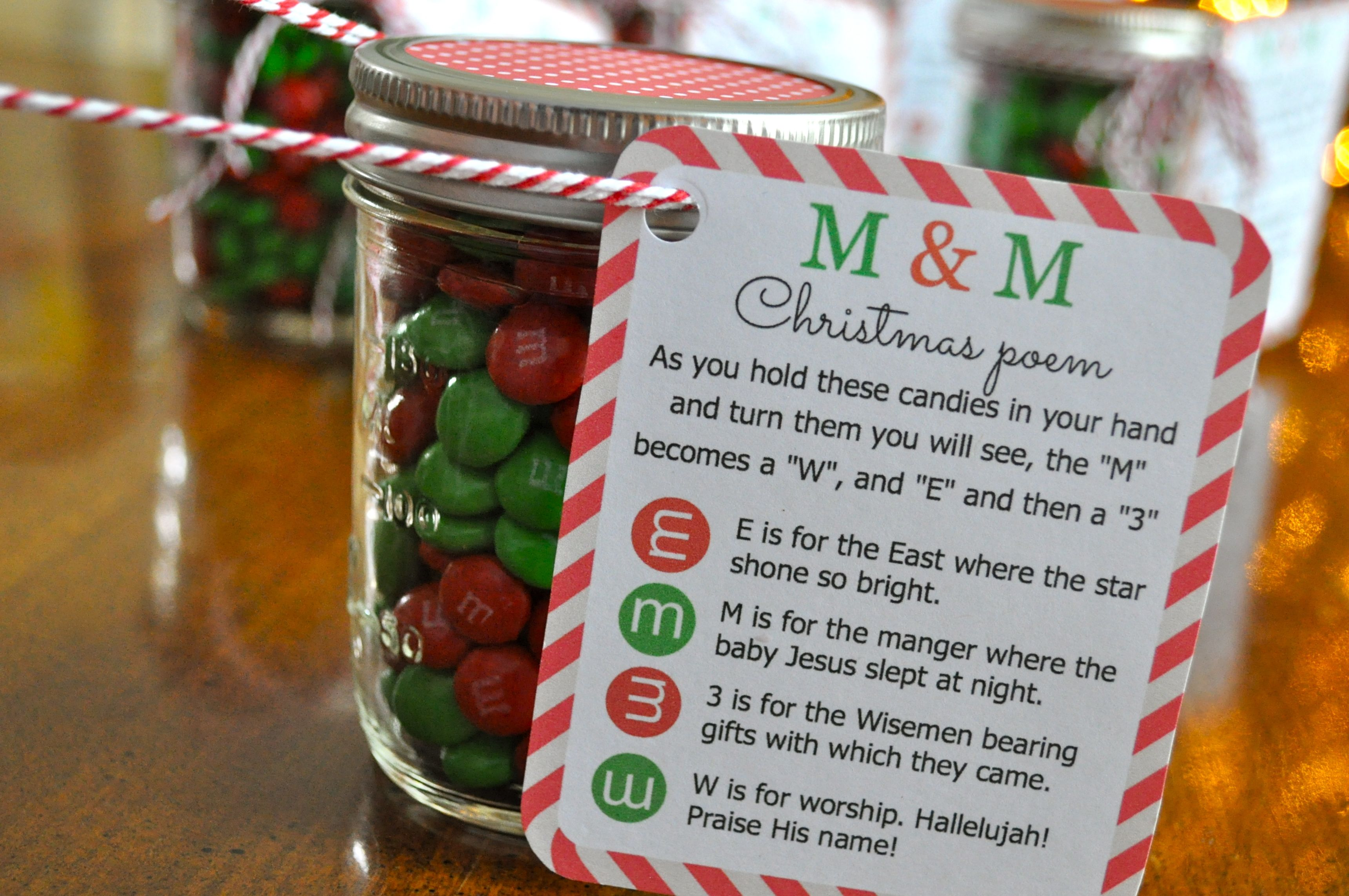 mm christmas poem candy jar string simple sojourns