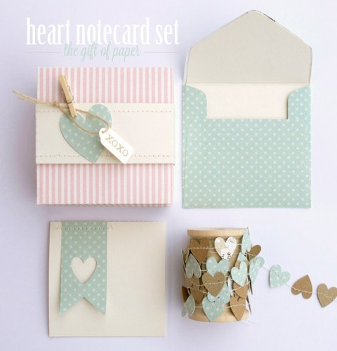Silhouette Heart Notecard Set
