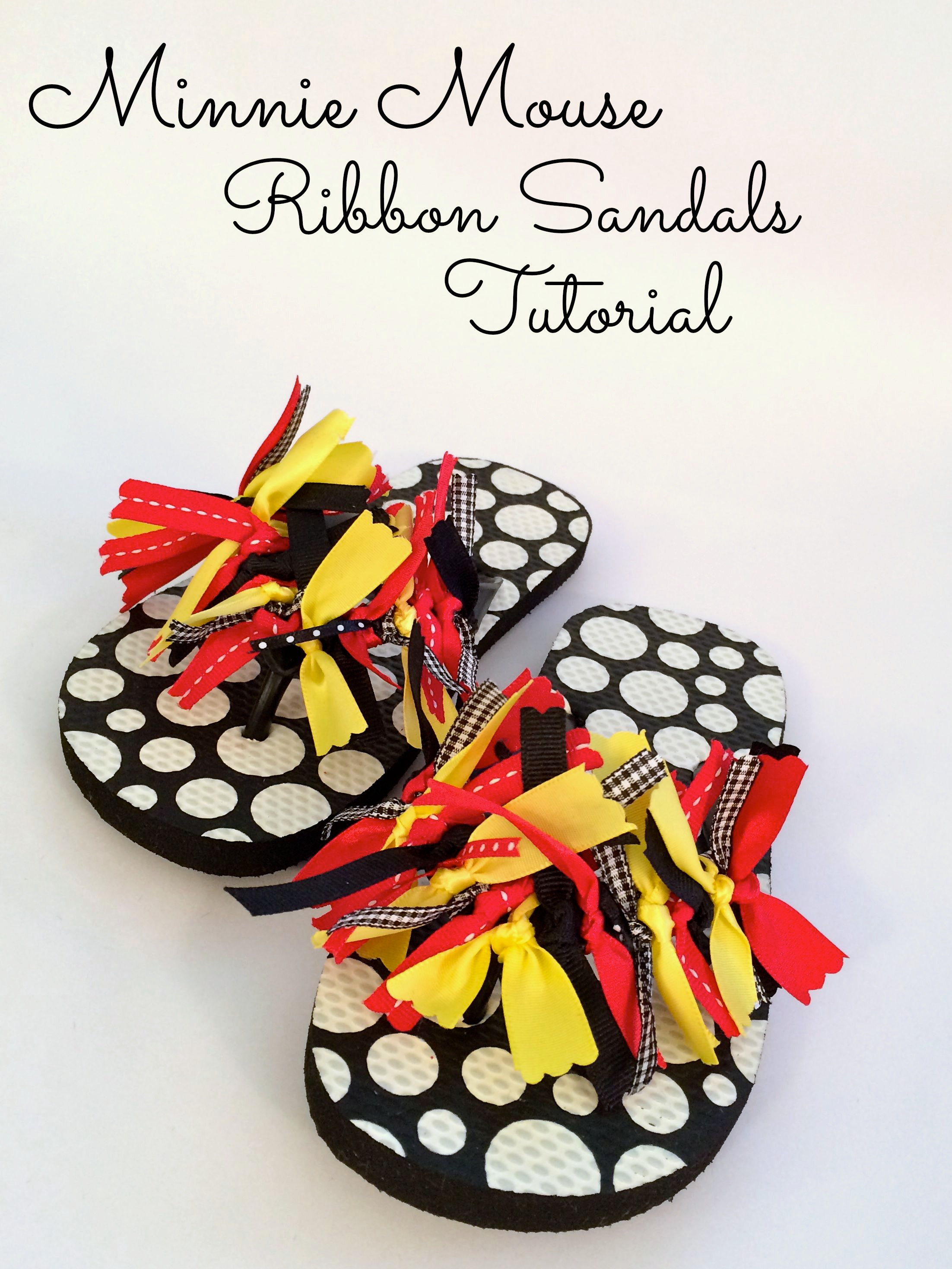 Minnie Mouse Ribbon Sandals - Simple Sojourns