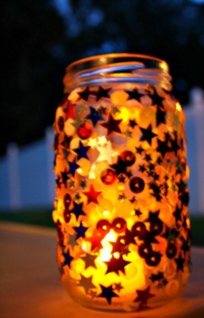 Easy Patriotic Jar Candle