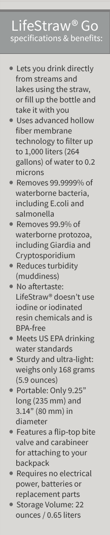 LifeStraw Go Specifications & Benefits - Simple Sojourns