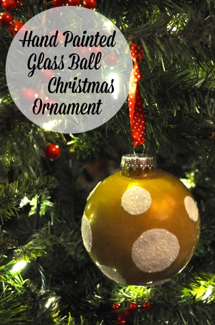 Hand Painted Christmas Ball Ornament - Simple Sojourns