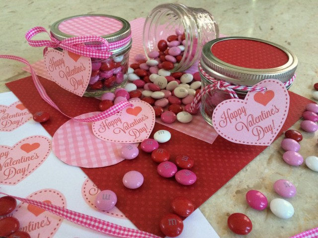 Valentine M&M Jars with Printable - Simple Sojourns