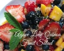 Agave Lime Quinoa Fruit Salad