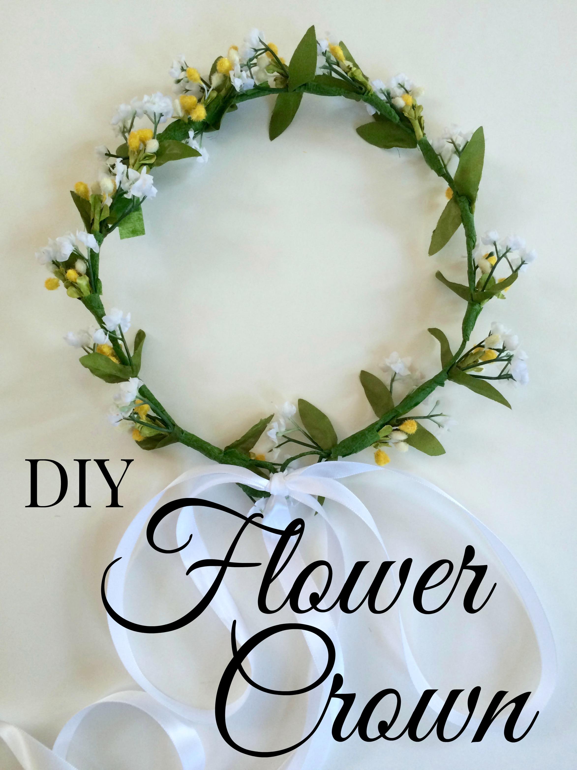 Diy Flower Crown Tutorial Simple Sojourns