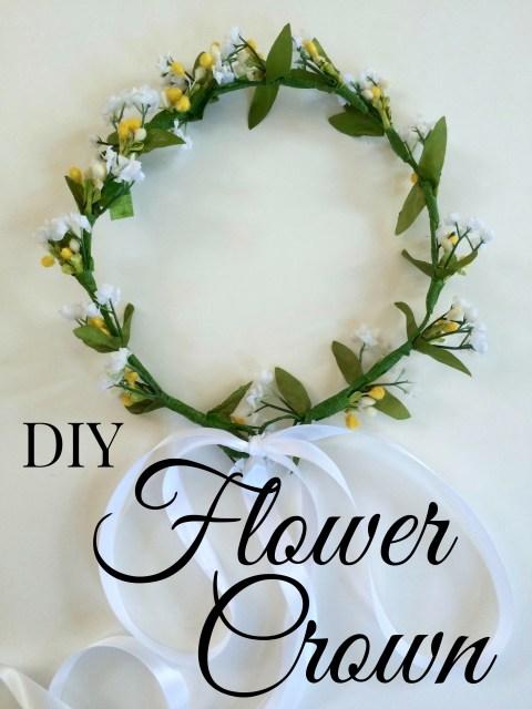 DIY Flower Crown Simple Sojourns