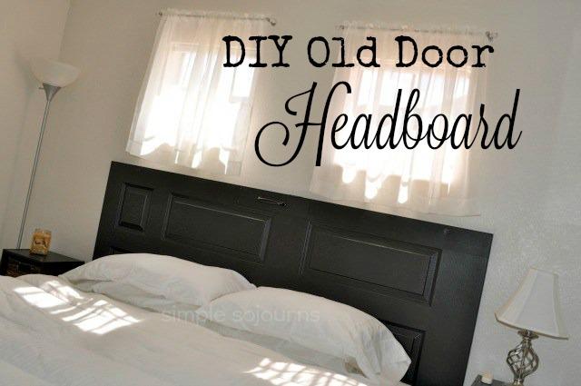 Diy headboard using old door