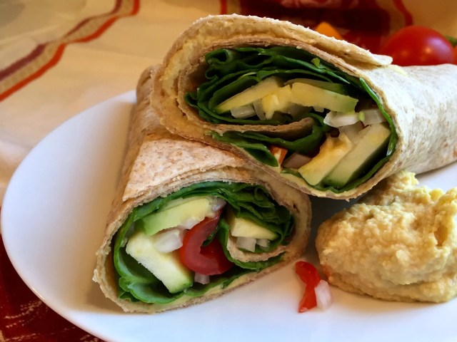 Fresh Veggie Wrap - Simple Sojourns