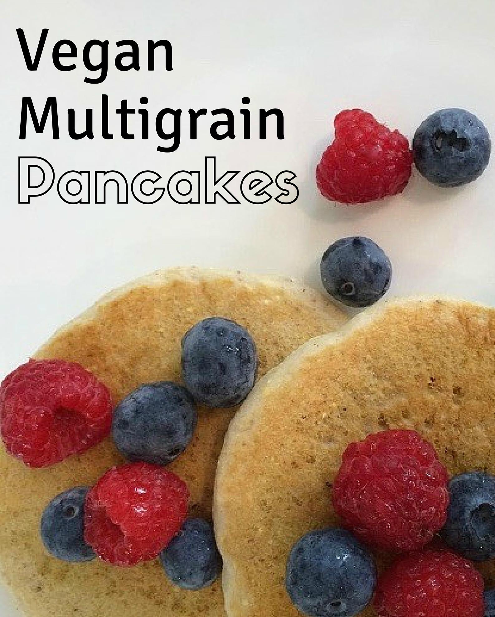 Vegan Multigrain Pancakes - Simple Sojourns
