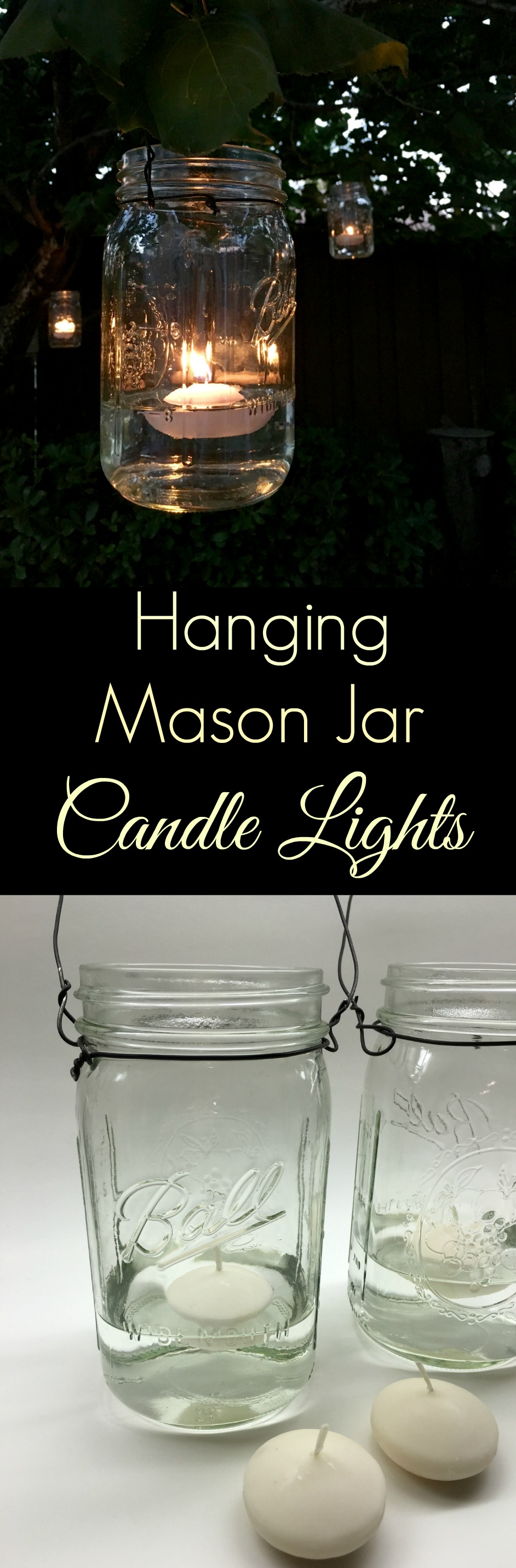 Hanging Mason Jar Candle Lights | Simple Sojourns