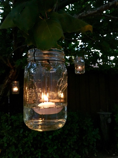Hanging Mason Jar Candles - Simple Sojourns