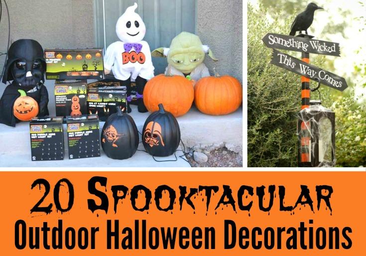 20 Spooktacular Outdoor Halloween Decorations - Simple Sojourns
