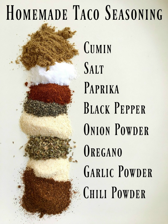 Homemade Taco Seasoning - Simple Sojourns