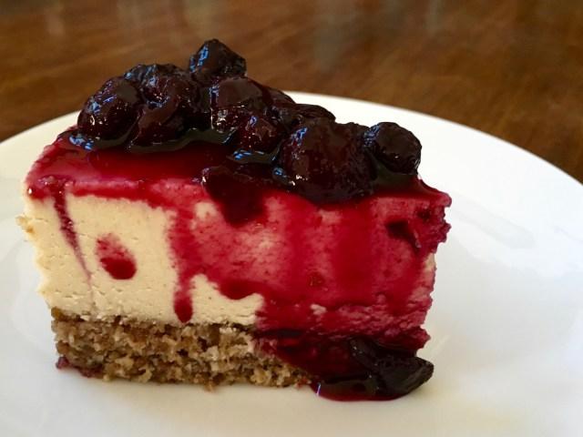 Vanilla Blueberry Vegan Cheesecake - Simple Sojourns