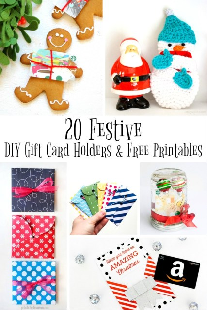 Festive DIY Gift Card Holders and Free Printables - Simple Sojourns