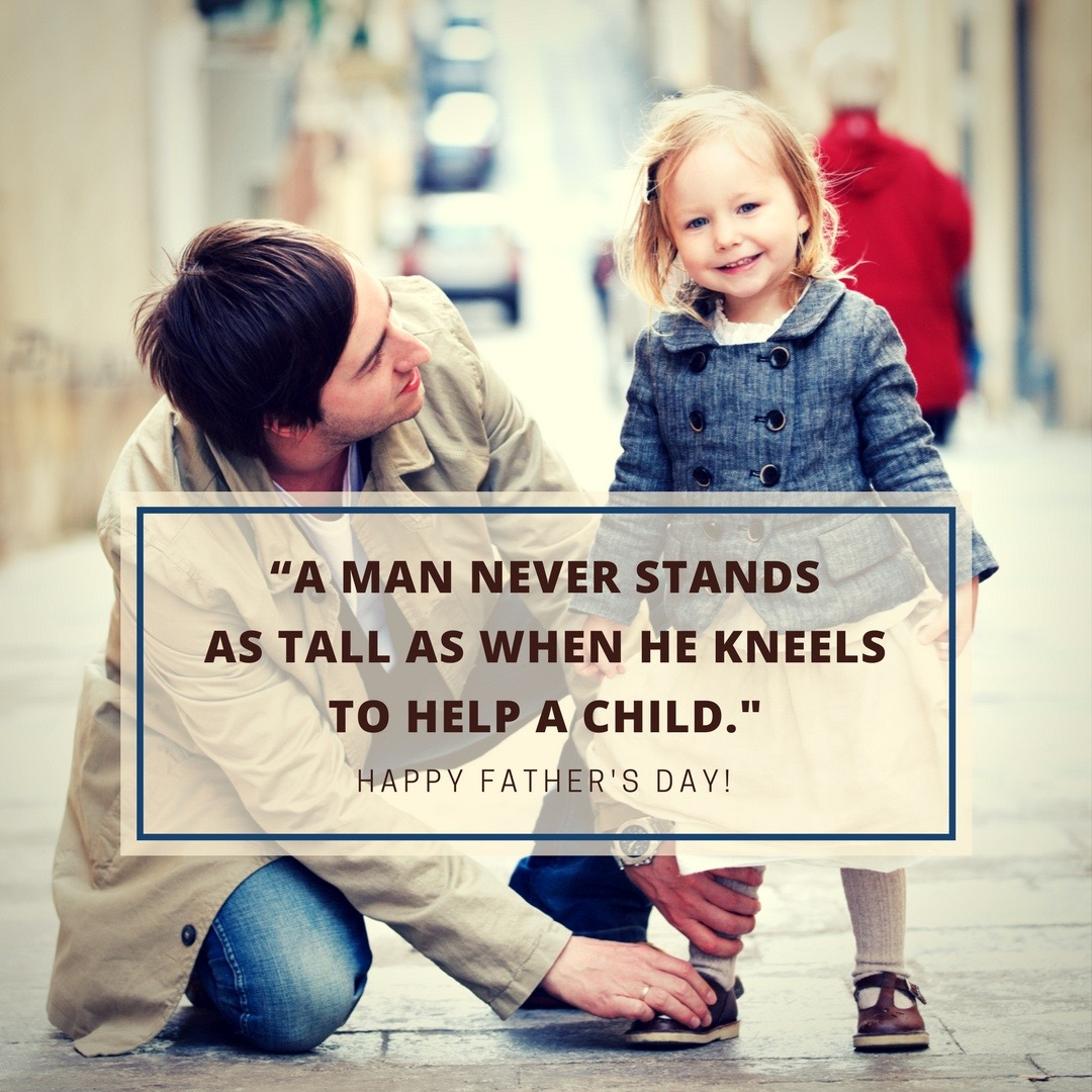 A Man Never Stands As Tall As When He Kneels To Help A Child - Simple Sojourns