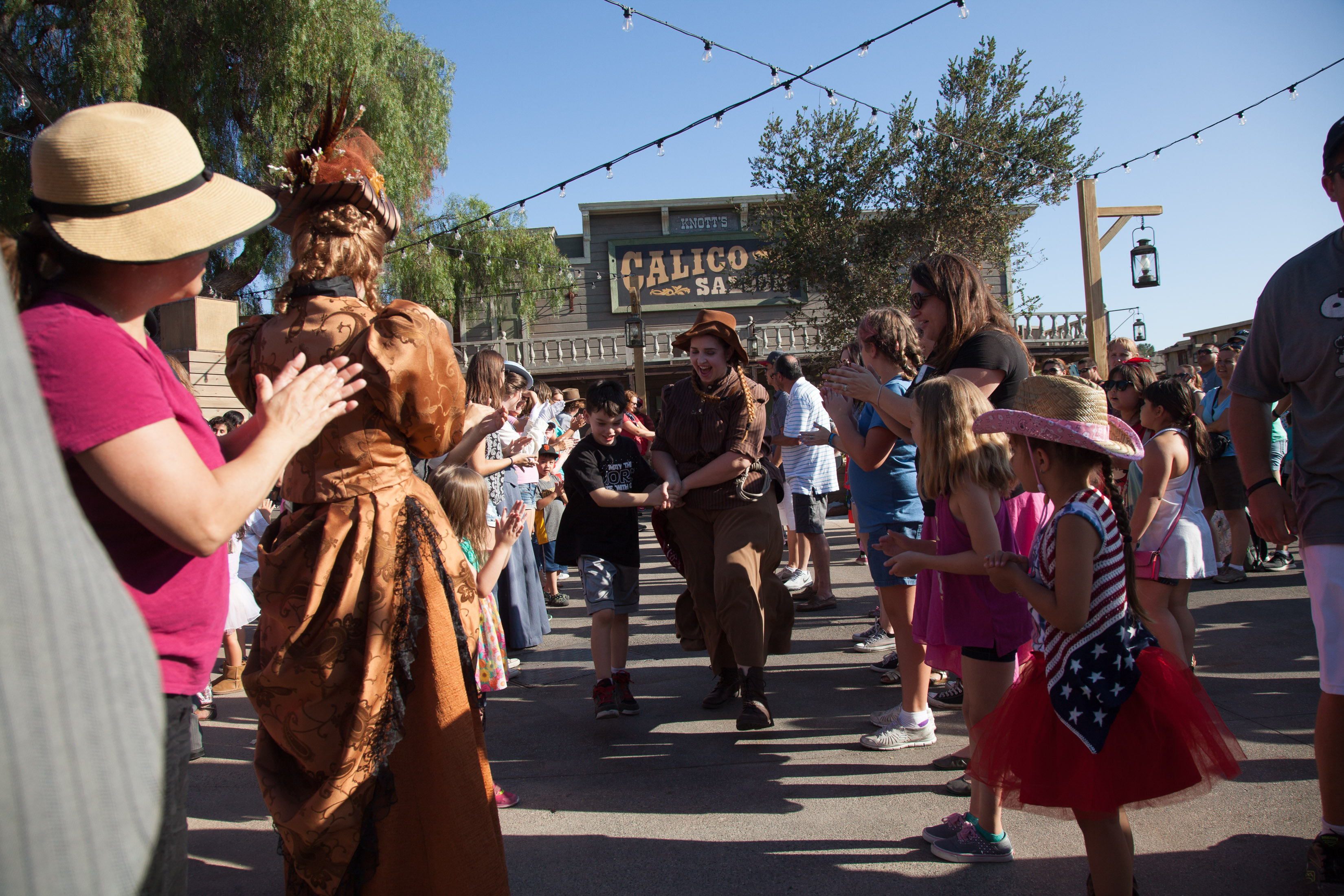 Knott's Berry Farm Ghost Town Alive Hoedown Line Dancing