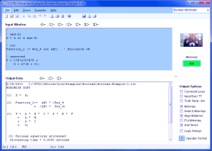 Boolean Logic Minimizer Software
