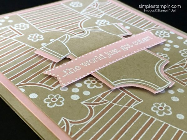 Made WIth Love Heat Embossed Baby Card - Susan Itell Stampinup